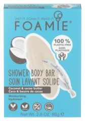 Foamie Shower Body Bar Shake Your Coconuts - Tuhá sprchová péče kokos 80 g