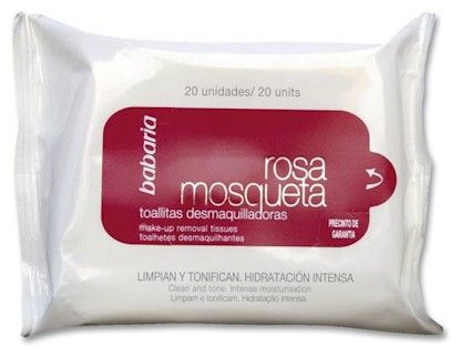 Babaria Rosa Mosqueta Make-up Removal Tissues - Odličovací ubrousky 20 ks