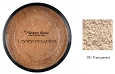 Pierre René Loose Powder Professional - Transparentní pudr č. 03 Transparent 8 g