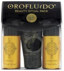 Orofluido Cestovní sada - Šampon 50 ml + Kondicioner 50 ml + Maska 40 ml  Dárková e1626db9fe6