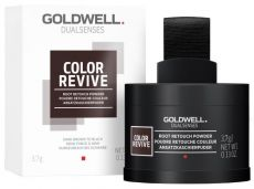 Goldwell Color Revive Root Retouch Powder Dark Brown to Black - Barvicí pudr na odrosty 3,7g