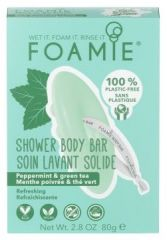 Foamie Shower Body Bar Mint to Be Fresh - Tuhá sprchová péče máta a zelený čaj 80 g