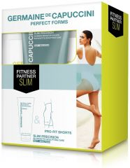 Germaine de Capuccini Perfect Forms Sada Fitness Partner Slim - Emulze Slim Precision Out Solucion 300ml + Šortky Pro-Fit (model Slim) Dárková sada