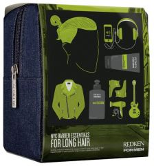 Redken NYC Barber Essentials For Long Hair - Šampon 300ml + Gel na vlasy 150ml Dárková sada