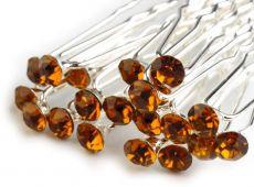 93eb148f5f0 Štrasová vlásenka - kamínek oranžová 1ks