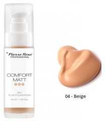 Pierre René Comfort Matt Foundation Professional - Vyrovnávací make-up č. 04 Beige 30 ml