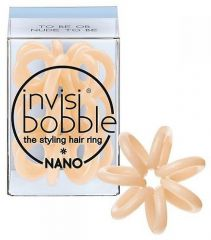 Invisibobble Nano To Be or Nude to - Mini gumička do vlasů béžová 3ks