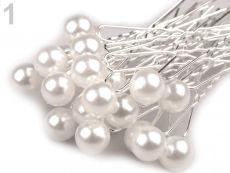 6fd09fb2362 Vlásenka s perlou bílá 1 ks