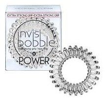 Invisibobble Power Crystal Clear - Maxi gumička do vlasů průhledná 3ks