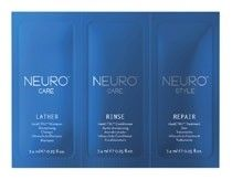 Paul Mitchell Neuro Care Lather Heatctrl Trial Foil - šampon 7,4ml + kondicioner 7,4ml + Treatment 7,4ml Tester